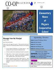 Elementary Raindrop Newsletter October 9, 2016