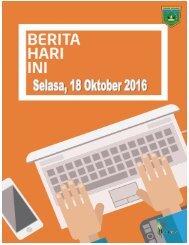 e-Kliping Selasa, 18 Oktober 2016