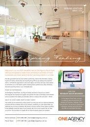 One Agency Newsletter October 2016