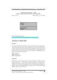Tabellen in IBM DB2 - Informationssysteme