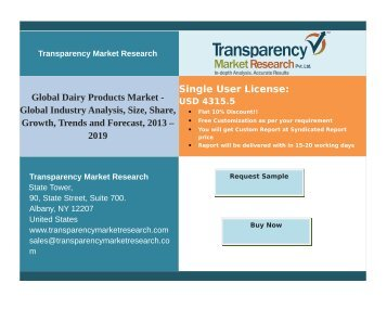 Dairy Products Market : Key driver is the Increasing Consumption of Dairy Products by Vegetarians