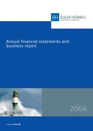 Annual financial statements 2004 - Euler Hermes ...