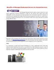 Benefits of Managed Dedicated Servers for Hosted Services