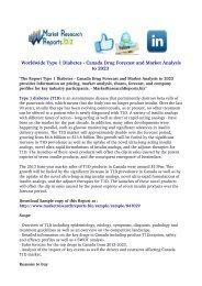 Type 1 Diabetes - Canada Drug Forecast and Market Analysis to 2023