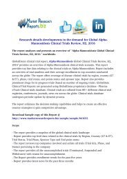 Alpha-Mannosidosis Global Clinical Trials Review, H2, 2016