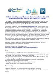 X-Linked Agammaglobulinemia Global Clinical Trials Review, H2, 2016
