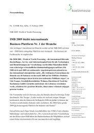 IMB 2009 bleibt internationale Business Plattform Nr. 1 ... - Textination