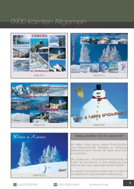 Meixner Ansichtskarten-Katalog Kärnten - WINTER