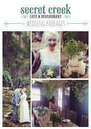 SECRET CREEK WEDDING PACKAGES 2016