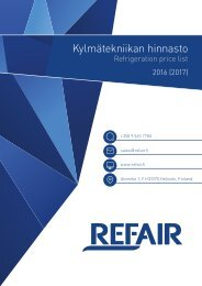 Refair Oy hinnasto 2016-2017