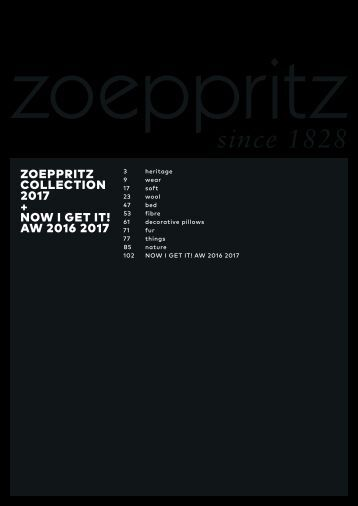 zoeppritz since 1828 - Collection 2017