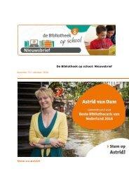 De Bibliotheek op school Nieuwsbrief Stem op Astrid!