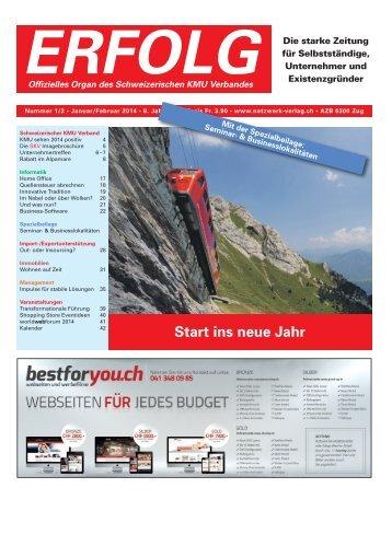 Erfolg_Ausgabe  Nr. 1 - Januar/Februar 2014