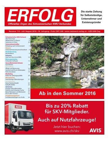Erfolg_Ausgabe Nr. 7/8 - Juli/August 2016