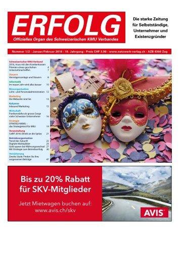 Erfolg_Ausgabe Nr. 1/2 - Januar/Februar 2016