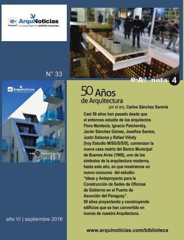 e-AN N° 33 nota N° 4 50 años de arquitectura