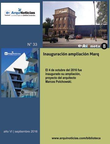 e-AN N° 33 nota N° 8 Inauguración del nuevo espacio del Marq
