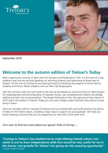 Treloar's Today September 2016