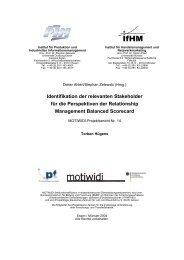 Identifikation der relevanten Stakeholder für die Perspektiven der ...