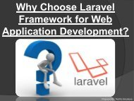 Laravel Development Company Services – TechTic Solutions