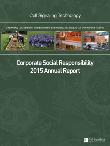 Corporate Social Responsibility 2015 Annual Report