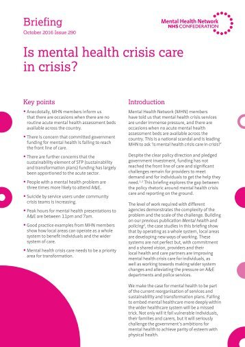 Is mental health crisis care in crisis?
