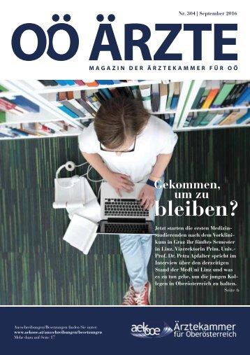 OÖ-Ärztezeitung-Sept-2016-Artikel-JKU-Linz-Gekommen-um-zu-bleiben