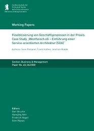 Flexibilisierung von Geschäftsprozessen in der Praxis: Case Study ...