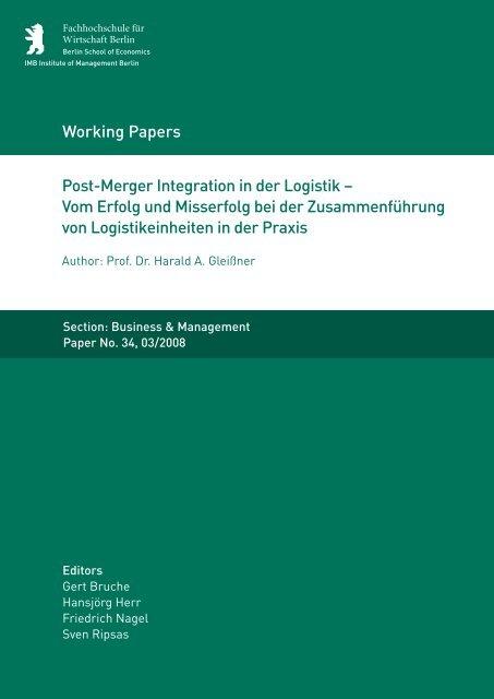 Post-Merger Integration in der Logistik - MBA Programme der HWR ...