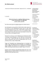 Hochschule für Wirtschaft und Recht Berlin • Alt ... - HWR Berlin