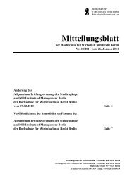 Mitteilungsblatt - HWR Berlin