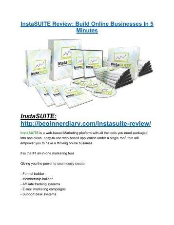 InstaSUITE review & massive +100 bonus items