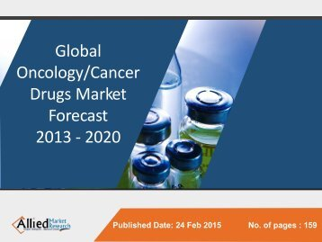 Oncology Drugs Market Size, Growth & Forecast to 2020