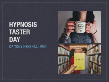 HYPNOSIS TASTER DAY