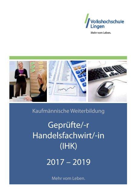 Geprufte R Handelsfachwirt In Ihk 2017 2019