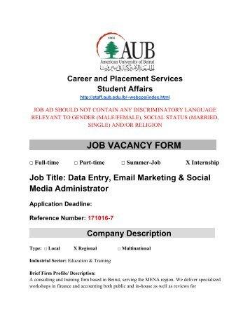 Job Vacancy Form