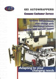 GEI Autowrapper Customer service