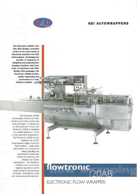 GEI Autowrapper flowtronic 120 Allen Bradley