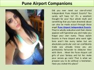 Pune Airport Escorts: Models, Housewife and teen college girls