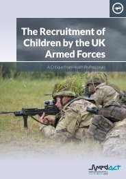 The Recruitment of Children by the UK Armed Forces