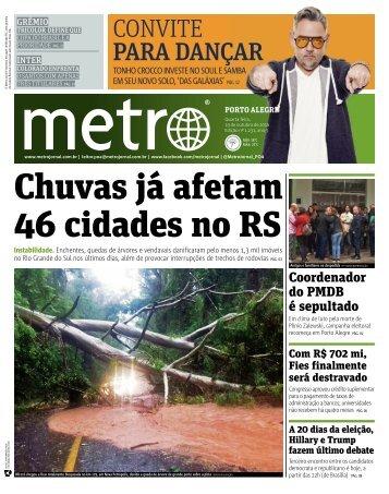 Chuvas já afetam 46 cidades no RS
