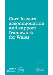 Care leavers accommodation and support framework for Wales