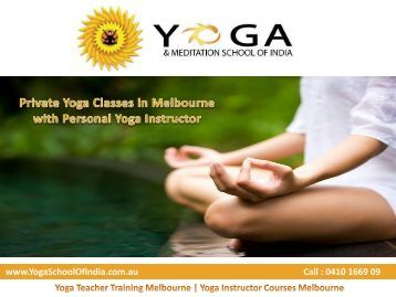 Private Yoga Classes in Melbourne with Personal Yoga Instructor