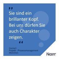 München: Junior Projekt und Prozessmanager (m/w)