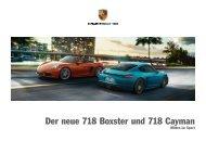 Der neue 718 Boxster und 718 Cayman