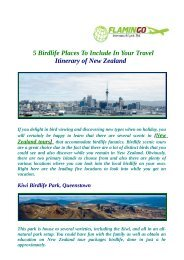 Top Birdlife Places To Include In Your Travel Itinerary of New Zealand Tours