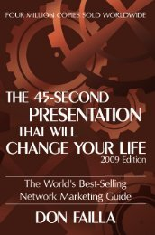 45 Seconds Presentation - own your Life!