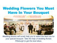 Wedding Flowers You Must Have In Your Bouquet