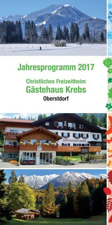 Krebs Jahresprogramm 2017