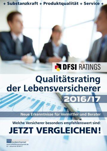 Qualitätsrating der Lebensversicherer 2016/17